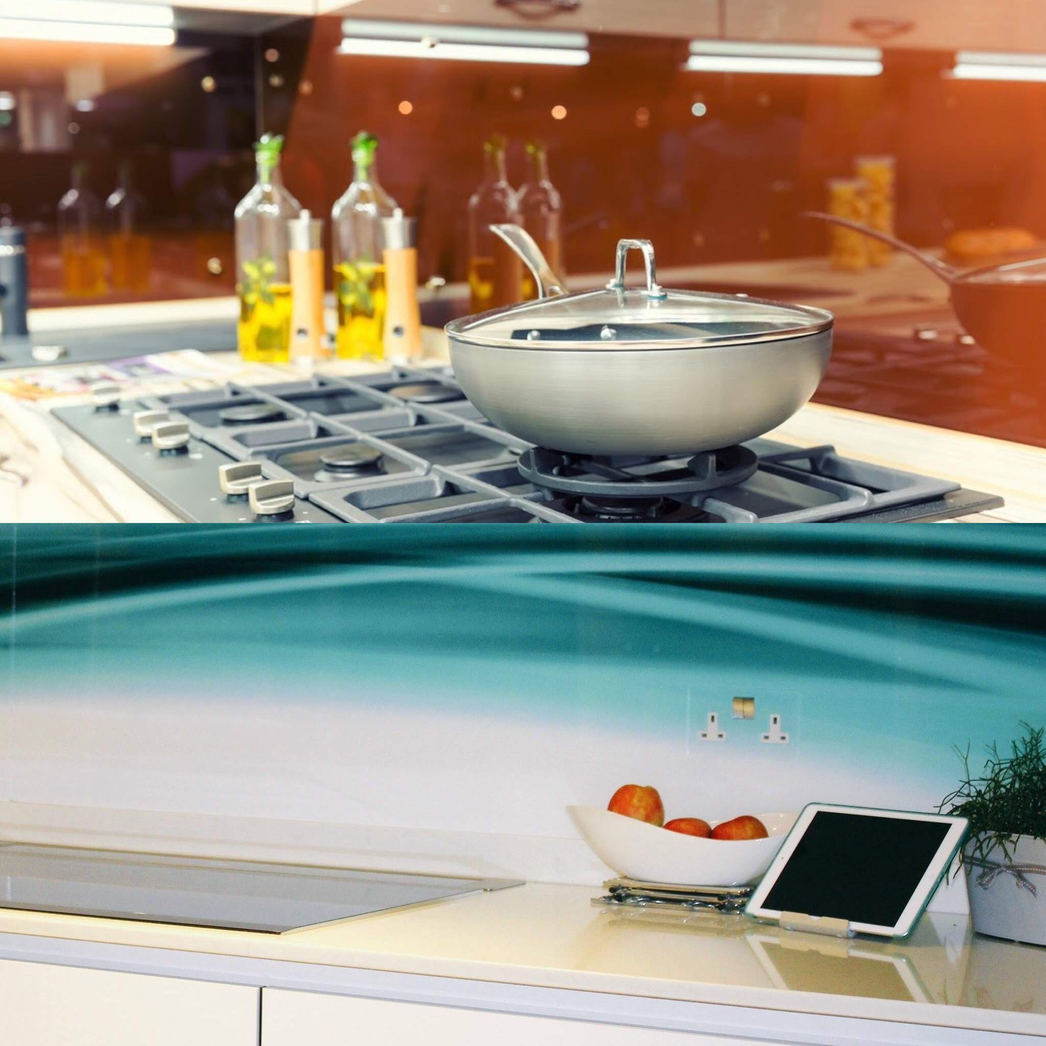 Examples of acrylic splashbacks