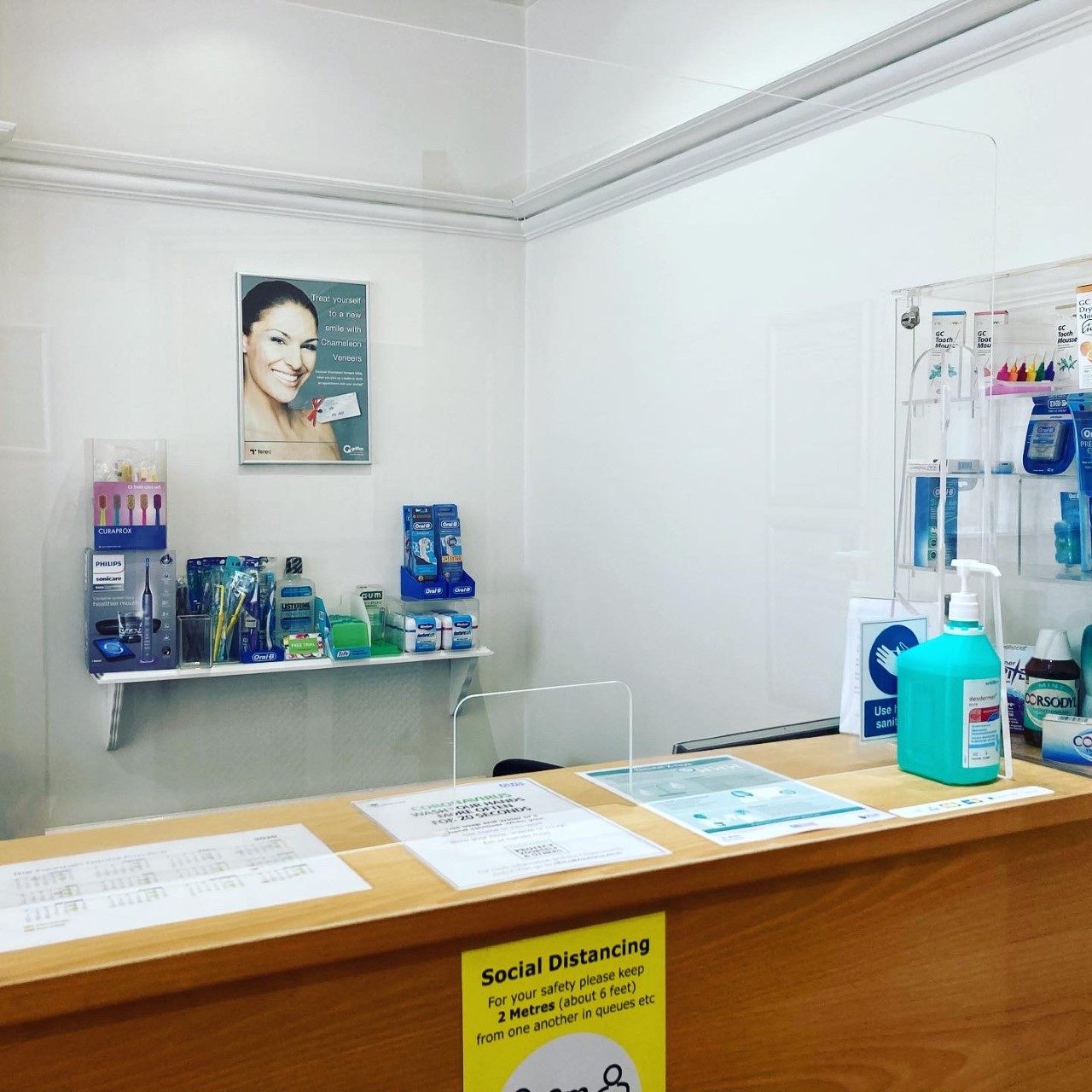 Screen in use in a Dental Practice reception